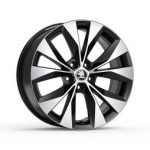 Skoda Superb III Cassiopeia 18″ Alloy Wheel – Black and Silver