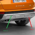 SEAT Ateca Rear Bumper Off Road Styling Additional Trim – Crossover Silver
