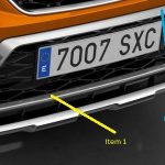 SEAT Ateca Front Bumper Off Road Styling Additional Trim – Crossover Silver