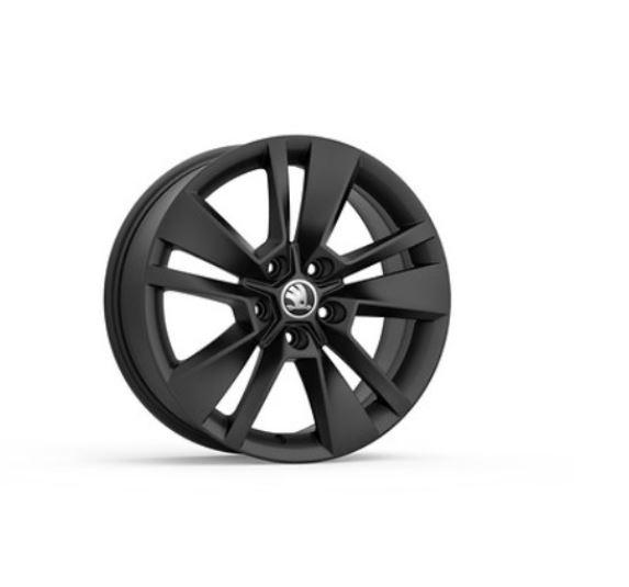 "Skoda Karoq 17"" Triton Alloy Wheel In Matt Black Design"