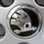 Skoda Black & Chrome Alloy Wheel Centre Caps  (Single)
