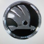 Skoda Fabia Black & Chrome Front Grill Badge