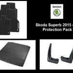 Skoda Superb III Estate Protection Pack (Mats, Mudflaps, Boot Liner)