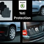 Skoda Yeti 2009 – 2013 Protection Pack Standard Boot  Floor ( Mats, Mudflaps, Boot Mat )